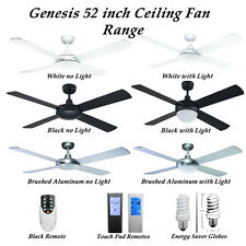 Genesis 52 inch 1300mm Ceiling Fan with Options