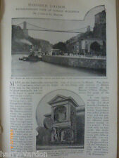 Extraordinary Fate of  Banished London Buildings Old Antique Photo Article 1899