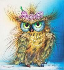Owl Mosaic Diamond Painting Kit 30 x 40 cm like cross stitch