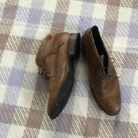 Cole Haan Ankle Chukka Boots Brown Pebbled Leather Shoes Mens Size 13 M