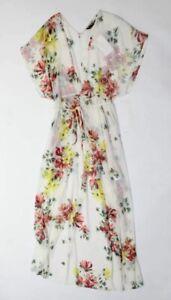 Women/'s Vintage ZARA BASIC Spanish Strap Empire Short Mini White Green Spotted Cotton Dress Sundress Size XS