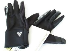 ADIDAS ClimaWarm Uni Winter Gloves Black 3-Stripes Touchscreen Mens size L/XL
