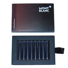 New Montblanc Toffee Brown Fountain Pen Ink Cartridges 8pc International 105189
