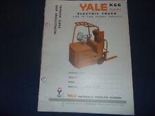 YALE K66 KL66 SERIES 3K - 5K LB FORKLIFT PARTS OPERATION INSTRUCTION SHOP MANUAL