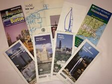 Old Vintage 1990's USA & Canada Road Maps AAA Travel North America 2 R Laminated