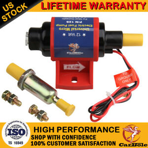 12S Universal Electric Inline Fuel Pump 12V Application 35 GPH Gasline 4-7 PSI