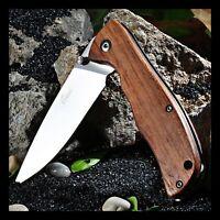 Taschenmesser ENLAN L05-1 / 8Cr13MoV / Holz /  Liner-Lock
