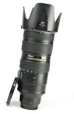 Nikon AF-S 70-200mm F2.8 G MK II VR N Zoom Pro Lens + F/R Lens Caps + Hood - VGC