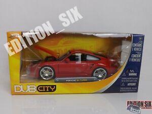 Jada Toys 1:24  PORSCHE 911 TURBO German sports car Red boxed rare