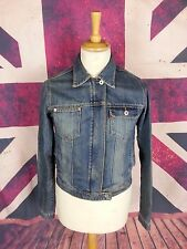 #992 Bench Ladies Zip Fastening Blue Denim Biker Style Jacket, Medium