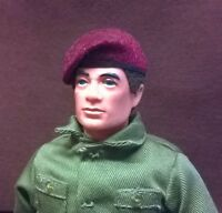 Banjoman 1:6 Scale Custom Made Beret For Vintage Action Man - Maroon