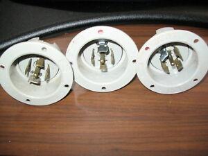 Lot of 3 Pass & Seymour L2120-FI Nema L21-20 Flanged Inlets (20 Amp, 120/208V)