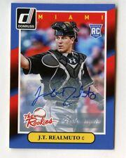 "2014 Panini Donruss J.T. Realmuto Auto RC ""The Rookies"" Autograph Rookie"