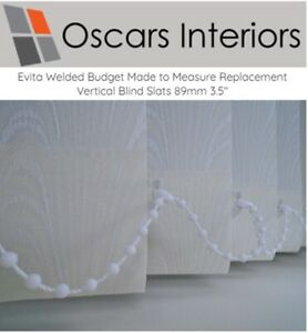 """Evita Welded Patterned Made to Measure Replacement Vertical Blind Slats 3.5"""""""