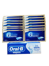 28 D TEETH WHITENING STRIPS & FREE ORAL B EXTRA WHITE TOOTHPASTE 2 WEEK SUPPLY