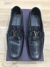 Genuine Louis Vuitton Mens Leather Loafer UK9.5 EU43.5 US10.5