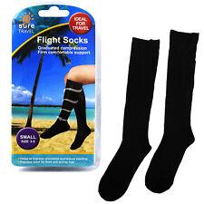 Sure Travel Unisex Mens Womens Compression Flight Socks, Small UK size 3 - 5