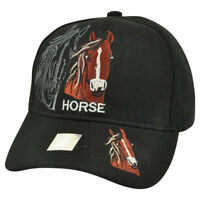 Horse Animal Black Shadow Country Mustang Broncos Hat Cap Riding Rodeo Cowboy