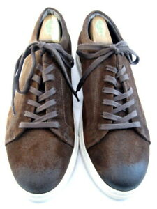"""NEW Allen Edmonds """"CANAL COURT"""" Men's Sneakers 11.5 D Brown Suede (643)"""