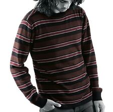 Emerica COOL BUZZ Mens Sweater Large Black Brown Burgundy NEW