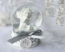 24 Angel Cherub Snow Globe Baptism Christening Wedding Baby Shower Favor