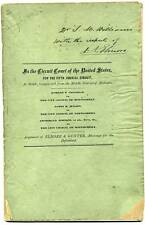 ca1860 Montgomery Alabama PLANK ROAD BOND BONDS lawsuit by Elmore & Gunter signd
