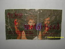 MOTORHEAD 1982 COLOR PICTURE Concert Ticket MADRID Sports Pavillion LEMMY Rare