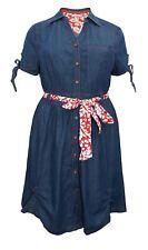 Joe Browns Wome's Denim Shirt Dress Size 18 NEW