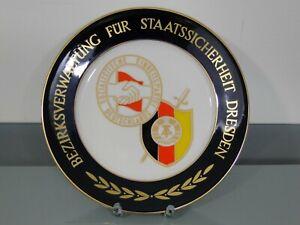 Teller,Bezirksverwaltung für Staatssicherheit,BVfS,Dresden,Porzellan,MfS,DDR