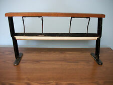 """ANTIQUE STEEL & WOOD BUTCHER PAPER CUTTER/HOLDER COUNTRY STORE MERCANTILE 23"""""""