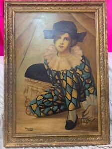 excellent painting,oil on old canvas,masterpiece of old painter,signed and frame