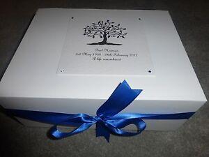 Condolence Bereavement Personalised Keepsake Box Memory Funeral Tree of Life