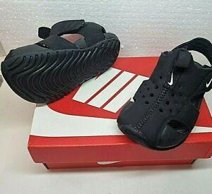 Kids Black Nike Sunray Protect 2 sandals - Size UK 4.5 - EU 21 - US 5C
