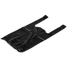 Rainbow 1/10BH1400, 1/10-Size Black Plastic T-Shirt Shopping Bags, Small, 1300/C