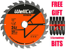 TCT Saw Wood Blade Extreme 165mm x 24T x 20mm For DSS610 DCS611 DCS391 M18CS55
