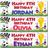 2 Personalised Birthday Banner Would Cup Football Sports Boy Children kids Party