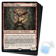 DELINA, WILD MAGE X4 Adventures In The Forgotten Realms AFR Magic MTG MINT CARD