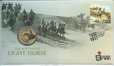 2017 $1 'The Australian Lighthorse' The Western Front PNC: Perth Mintmark coin