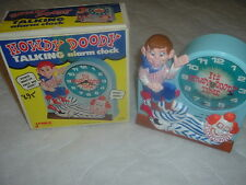 1974 Collectible Janex Howdy Doody Talking Alarm Clock,Its Howdy Doody Time.