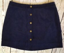Old Navy Corduroy Skirt size 10 Blue Snap Front 34 x 16.5