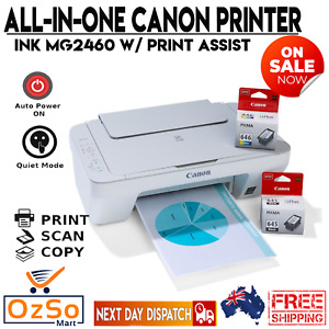 Canon PIXMA MG2460 3in1 Color Inkjet MFP Printer Copy Scan With Ink Cartridges