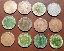 lot de 11 pièces de 10 centimes Napoleon III plus 1 Cerès