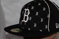 Boston Red Sox New Era MLB Black Team Solid 59fifty,Cap,Hat       $ 39.99   NEW