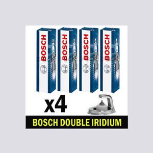 4x Bosch Iridium Spark Plugs for HONDA CIVIC 1.8 CHOICE2/4 R18A1 R18A2 140bhp