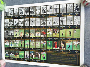 Champions of Golf Masters Collection Uncut Sheet 1934-1996  Faldo -Jack Nicklaus