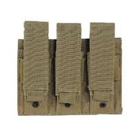 Voodoo Tactical Coyote Pistol Mag Triple Pouch - Retention Strap Is Adjustable