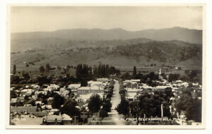 Tumut NSW  View of Town from Telegraph Hill RP Postcard 1930s