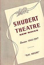 "Katherine Dunham ""BAL NEGRE"" Eartha Kitt / Dance 1946 New Haven Tryout Playbill"