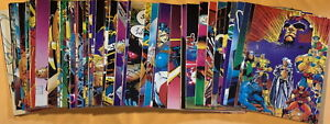 1991 Marvel Comics X-MEN Full Base 90 Trading Card Set Includes Checklists NM-M