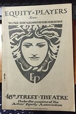 "1922 PLAYBILL 48TH ST THEATRE BROADWAY NYC ""HOSPITALITY"" W/ORIG TICKET STUBS"